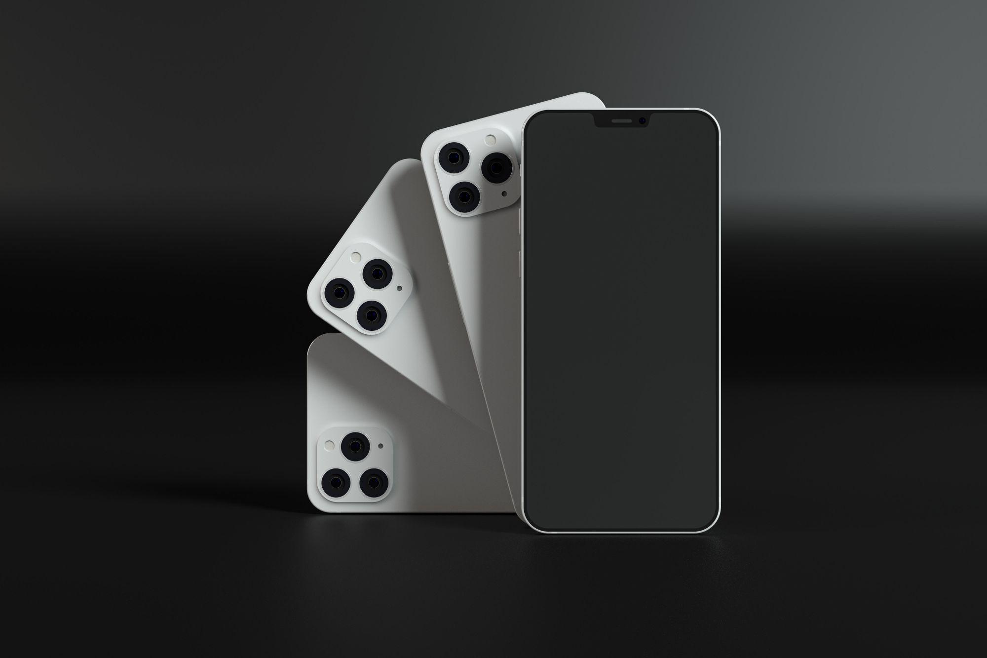 Három kamerával rendelkező modern okostelefon