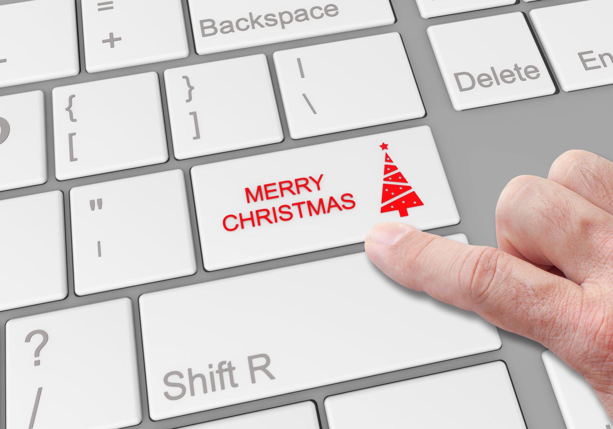 Különleges karácsonyi gomb billentyűzeten