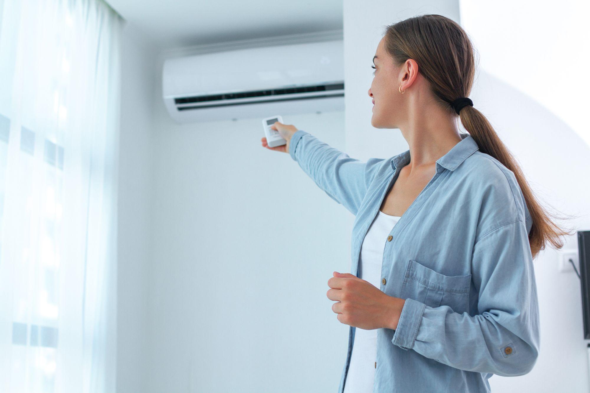 Nő klíma hőmérsékletet állít